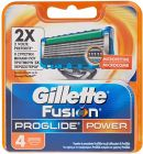 gillette fusion proglide blades power 4 pack