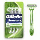 gillette sensor 3 sensitive razors 4 pack