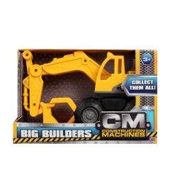 HTI Toys Big Builders Construction Machine Excavator With Log Grabber
