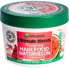 Garnier Ultimate Blends Plumping Hair Food Watermelon 3-in-1 Fine Hair Mask Treatment