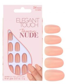 elegant touch tawny nude nails