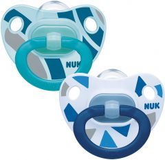 NUK Happy Days Silicone Soother Size 2 2 Pack 6-18 months