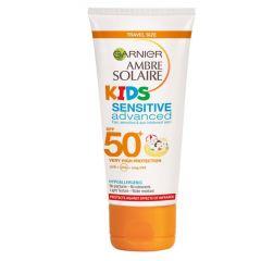 Garnier Ambre Solaire Kids Sensitive Sun Cream SPF50+ 50ml Travel