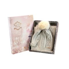 brandwell chunky knit hat and scarf set