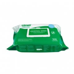 Clinell Universal Hand and Surface Wipes (100 pack)