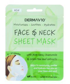 Derma V10 Aloe Vera Face and Neck Sheet Mask