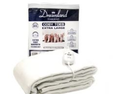 dreamland cosy toes underblanket king size