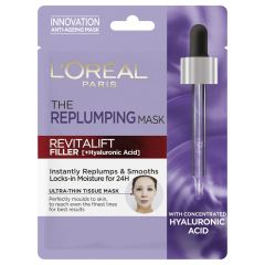 L'Oreal Paris Revitalift Filler Hyaluronic Acid Replumping Tissue Mask