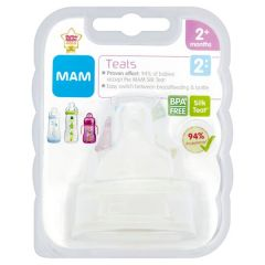 MAM Silicone Baby Bottle Teats - 2+ Months - Medium Flow - 2 Pack - Size 2