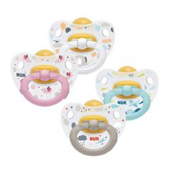 NUK Happy Kids Latex Soother Size 1 2 Pack