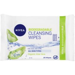 nivea biodegradeable aloe Cleansing Wipes x25