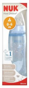 NUK First Choice Baby Blue Silicone Size 1 Medium 300ml