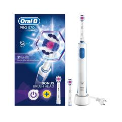 oral b pro 570 electric 3D white toothbrush