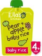 Ella's Kitchen Range Organic Apple and Pear Baby Rice 120g