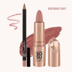 SOSU lip kit birthday suit