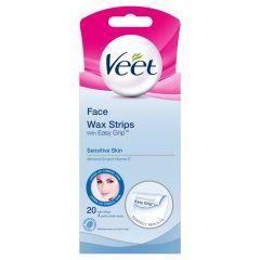 veet wax strips face (20 Pack)