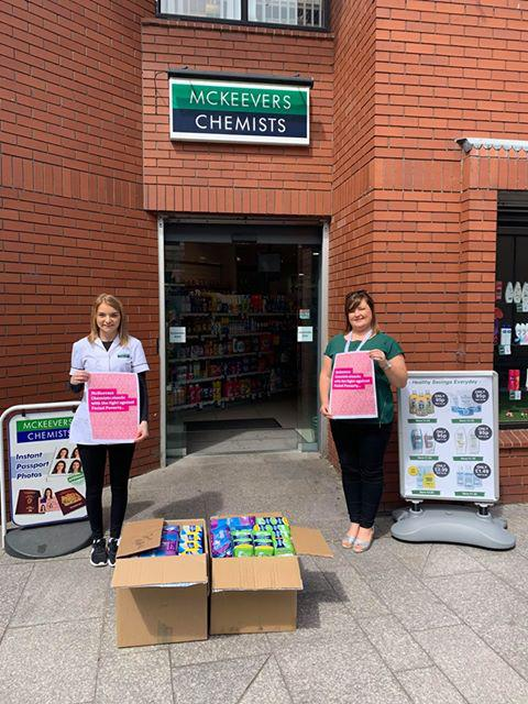 McKeevers Chemists supports Period Poverty with the SHSCT