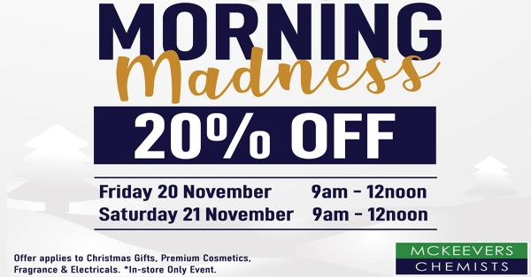 Morning Madness Events this November!